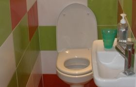 Toilettes colorés