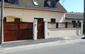 Clôture : portail, portillon et brise vues assortis