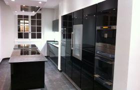 Une cuisine noire : élégante et sobre